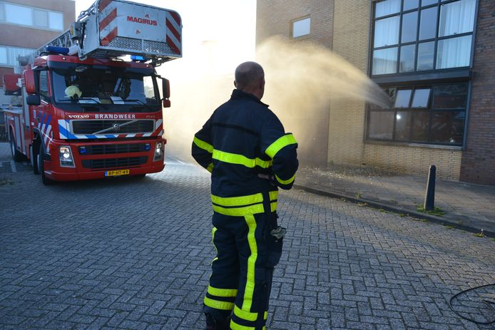 Brand benedenwoning appartementencomplex Etten-Leur