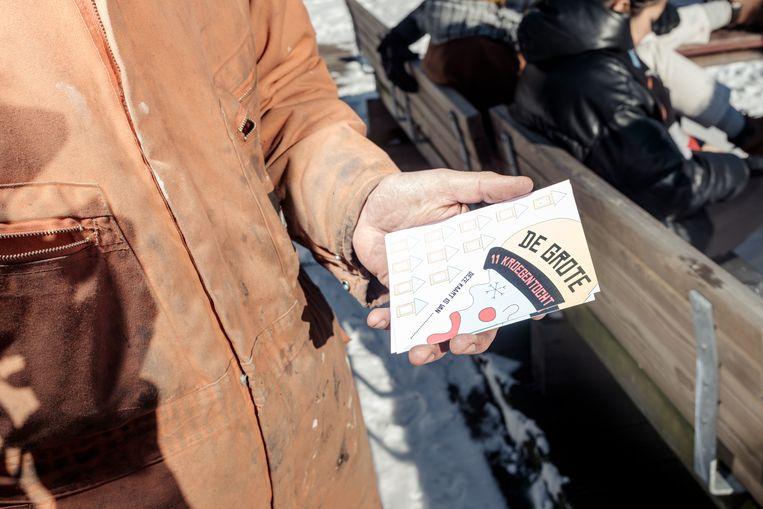 De stempelkaart. Beeld Jakob van Vliet