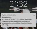 Om 21.30 uur werd het eersteNL-Alert verstuurd naar omwonenden.