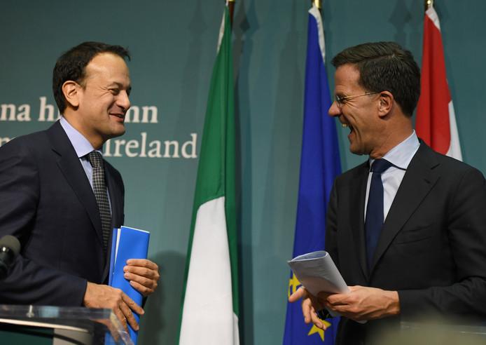 Premier Mark Rutte op bezoek bij de premier van Ierland, Leo Varadkar.
