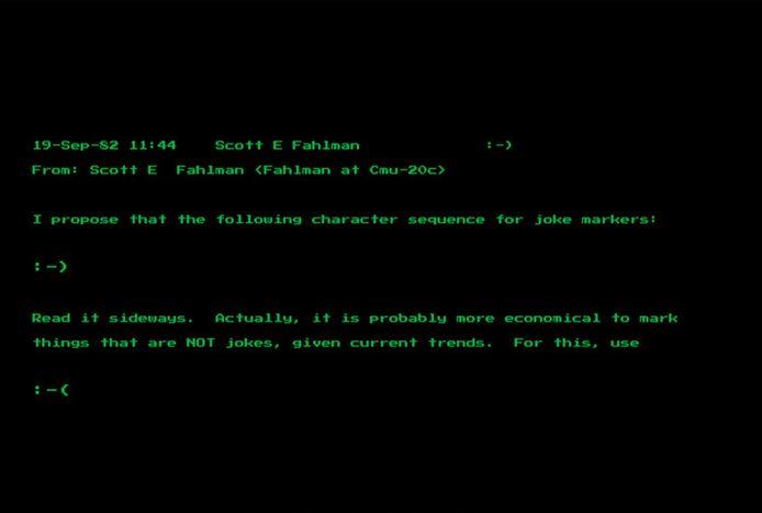 Scott Fahlman avait inventé ces deux symboles en septembre 1982