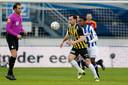 Thomas Bruns in actie tegen Heerenveen.