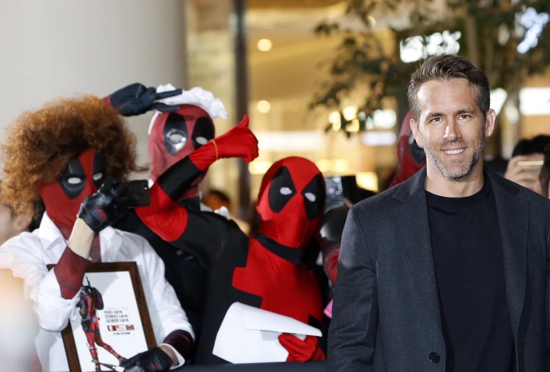 Ryan Reynolds op de 'Deadpool II'-première