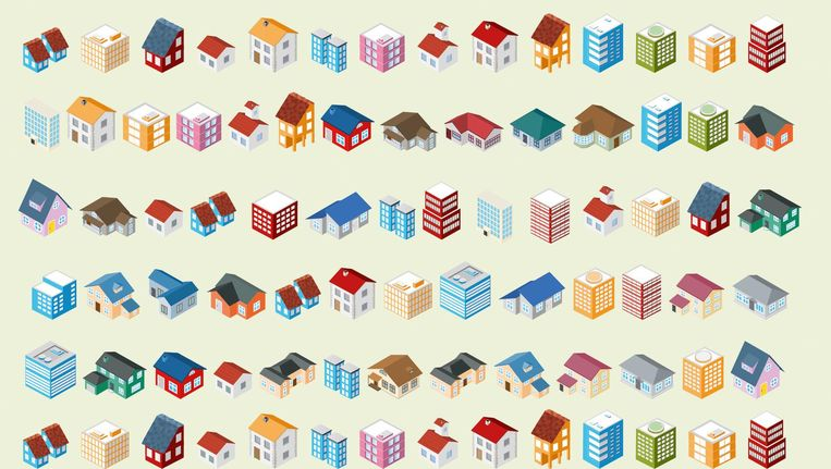 Juist de grote steden waar de woningnood het grootst is, zeggen geen behoefte te hebben aan bouwen in het weiland. Beeld de Volkskrant