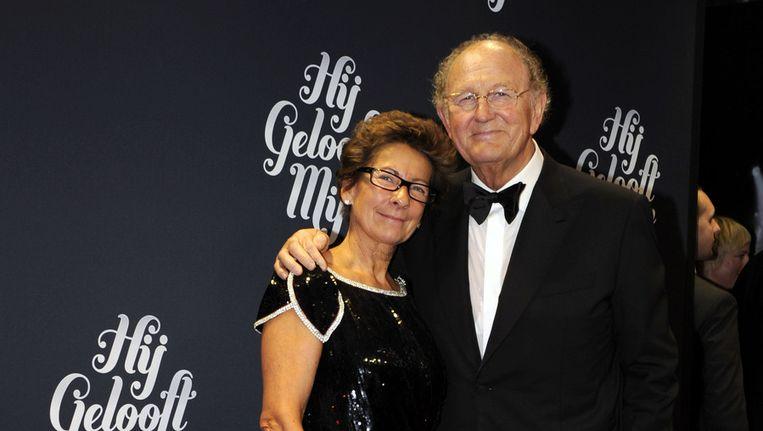 Met stip op nummer één: Joop van den Ende. Hier met zijn vrouw Janine. Beeld ANP
