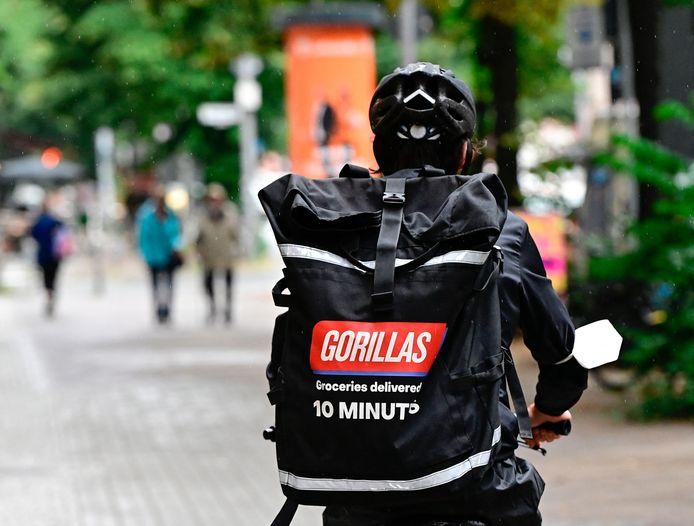 De 'flitsbezorgapp' Gorillas is sinds anderhalve maand actief in ons land.