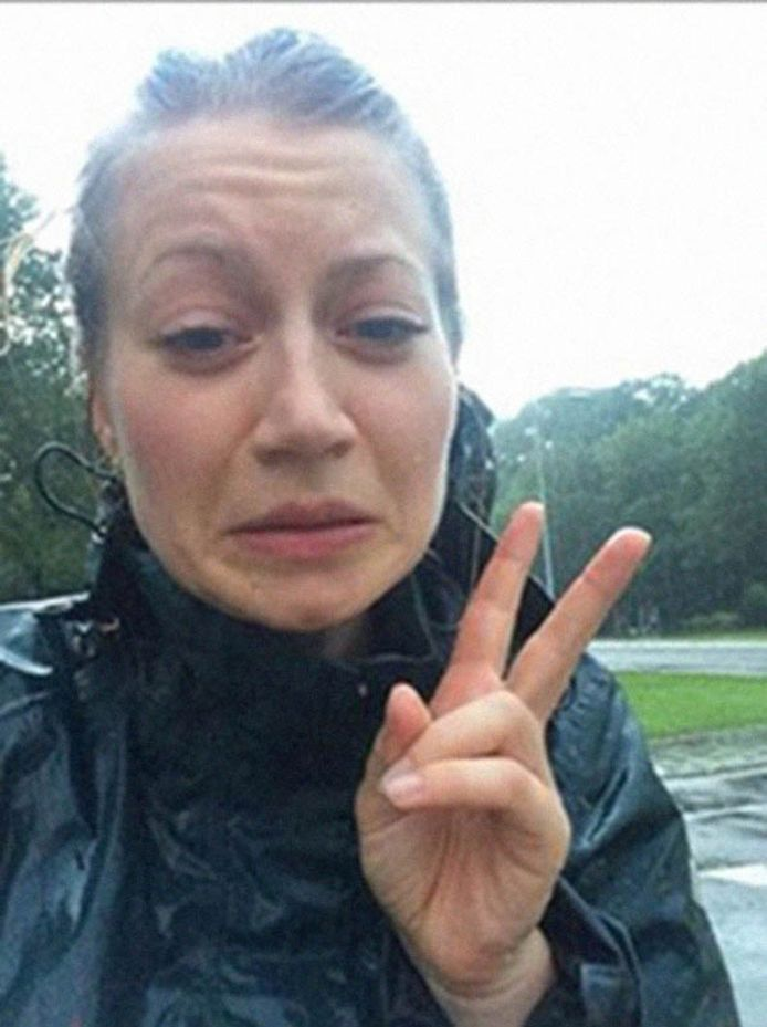 De selfie die Anne Faber stuurde naar haar vriend.