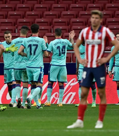 L'Atlético Madrid surpris à domicile par Levante