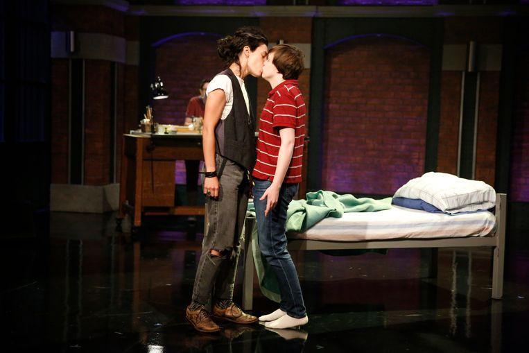 De Broadway-musical 'Fun Home', die nu voor Nederland is bewerkt door OpusOne. Beeld Getty