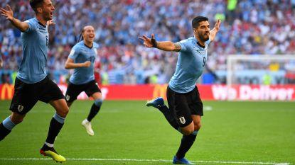 Negen op negen voor Suárez en co: Uruguay kroont zich tot groepswinnaar na eenvoudige zege tegen Rusland
