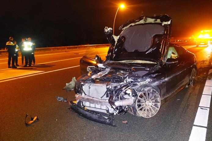 Ernstig ongeluk op A2 bij Best.