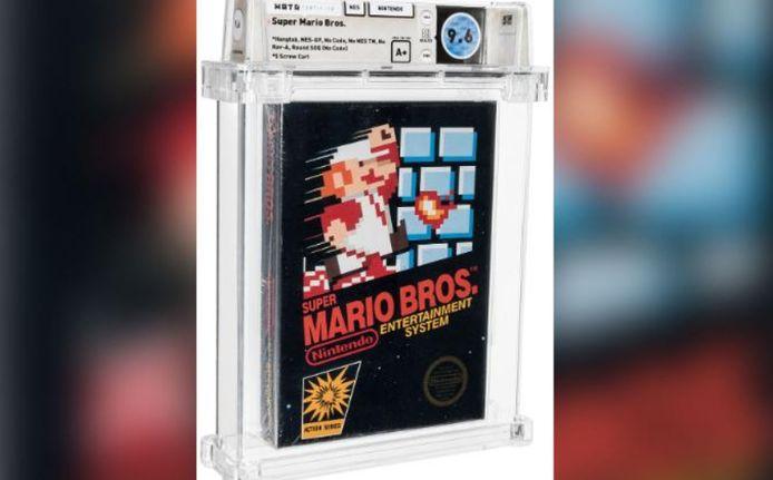 """Une cartouche du jeu """"Super Mario Bros"""" vendue pour 660.000 dollars aux enchères."""