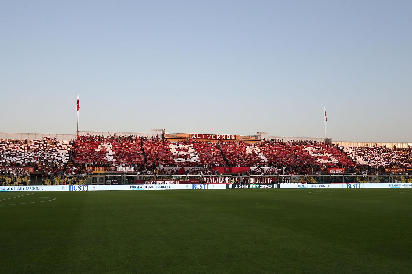 Het stadion van Livorno