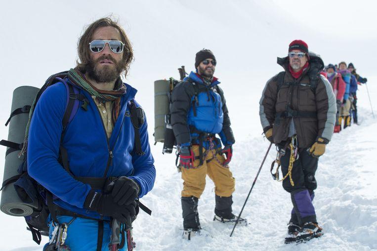 Jake Gyllenhaal, Michael Kelly en Josh Brolin in Everest. Beeld AP/Universal Pictures