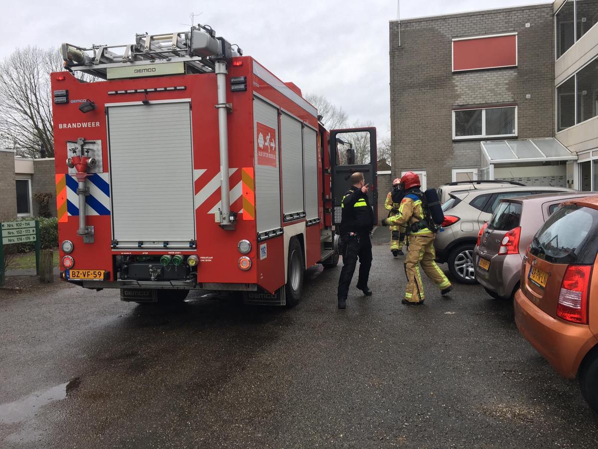 Brandweer en politie bij Hoevenakkers in Waalre.
