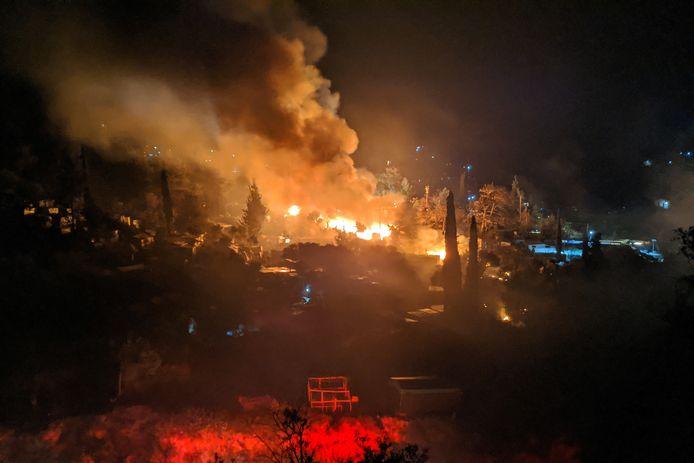 Op 26 april brandde het ook al bij het vluchtelingenkamp.