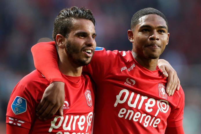 Michaël Maria (rechts) is wederom op proef bij PEC Zwolle.