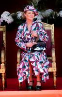 Prinses Delphine met de oogtas van het Mechelse Awardt