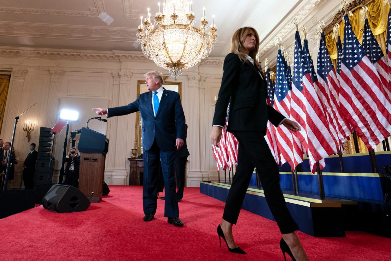 Donald en Melania Trump. Beeld EPA