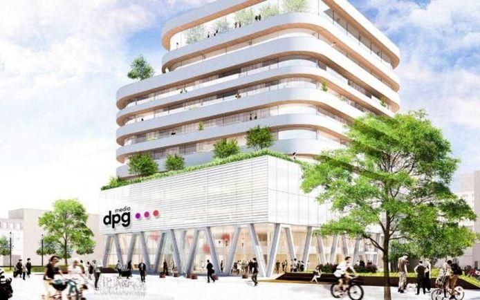 Le tout nouveau siège de DPG Media, en plein coeur d'Anvers.