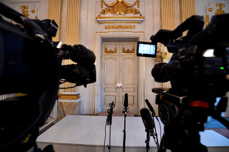 Dit jaar zal de deur niet opengaan voor de uitreiking van de Nobelprijs voor Literatuur. Beeld AFP
