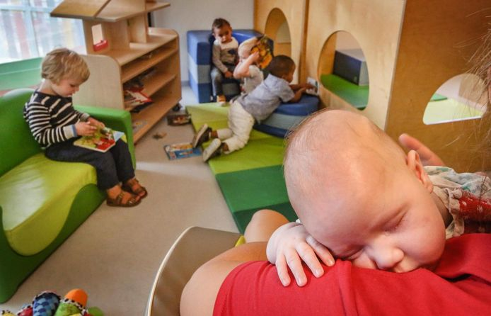 illustratiebeeld kinderopvang in Kortrijk.