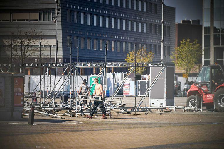 Het Chasseveld in het centrum van Breda. Hier moet een testevent komen.  Beeld ANP