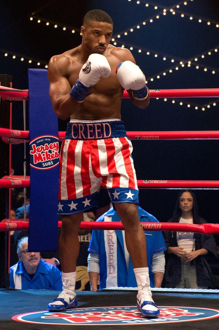 Jordan oogt in Creed nog krachtiger en zelfverzekerder dan in de superheldenhit Black Panther. Beeld eenmalig K2 - filmbeeld