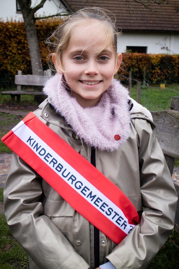 Lucia Delcroix is de nieuwe kinderburgemeester van Brasschaat.