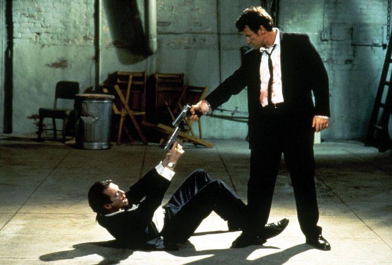 Steve Buscemi en Harvey Keitel in Reservoir Dogs van Quentin Tarantino. Beeld