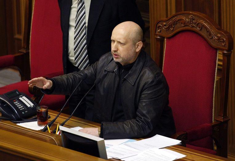 Oleksander Toertsjinov, de nieuwe interim-president van Oekraïne. Beeld EPA