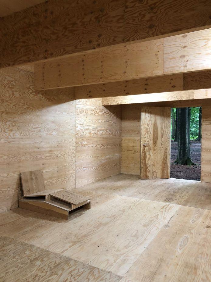 Het werk 'A readers bedroom' van Marien Schouten.