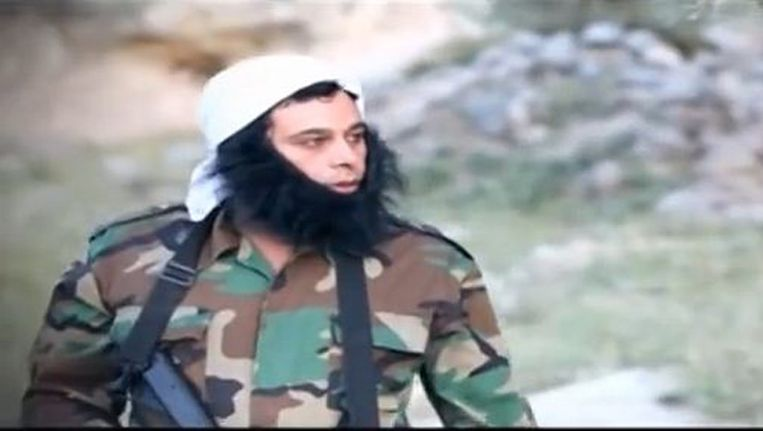 Screenshot uit een sketch van een Palestijnse show waarin IS belachelijk wordt gemaakt. Beeld screenshot
