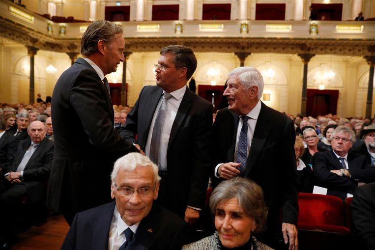 Jan Peter Balkenende met Dries van Agt Beeld ANP