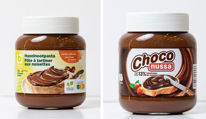 Boni Hazelnootpasta en Choco Nussa