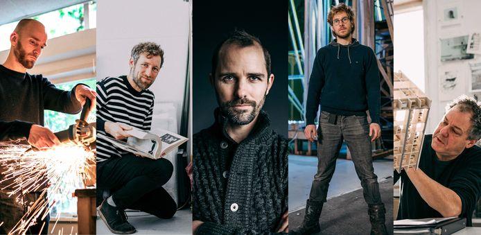 Maarten Baas, Jan Willem Deiman, Frank Halmans, Daan Paans en Jop Vissers Vorstenbosch mogen ieder een kunstwerk voor de nieuwe bibliotheek maken.