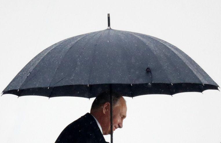 President Poetin in Parijs. Beeld REUTERS