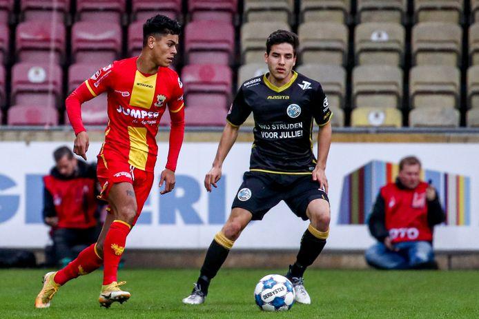 15-11-2020: Voetbal: Go Ahead Eagles v FC Den Bosch: Deventer (L-R): Quiermo Dumay of Go Ahead Eagles