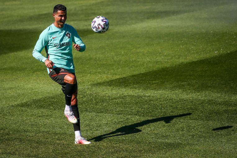 Cristiano Ronaldo, 36 jaar, 174 interlands voor Portugal, 103 doelpunten. Beeld EPA