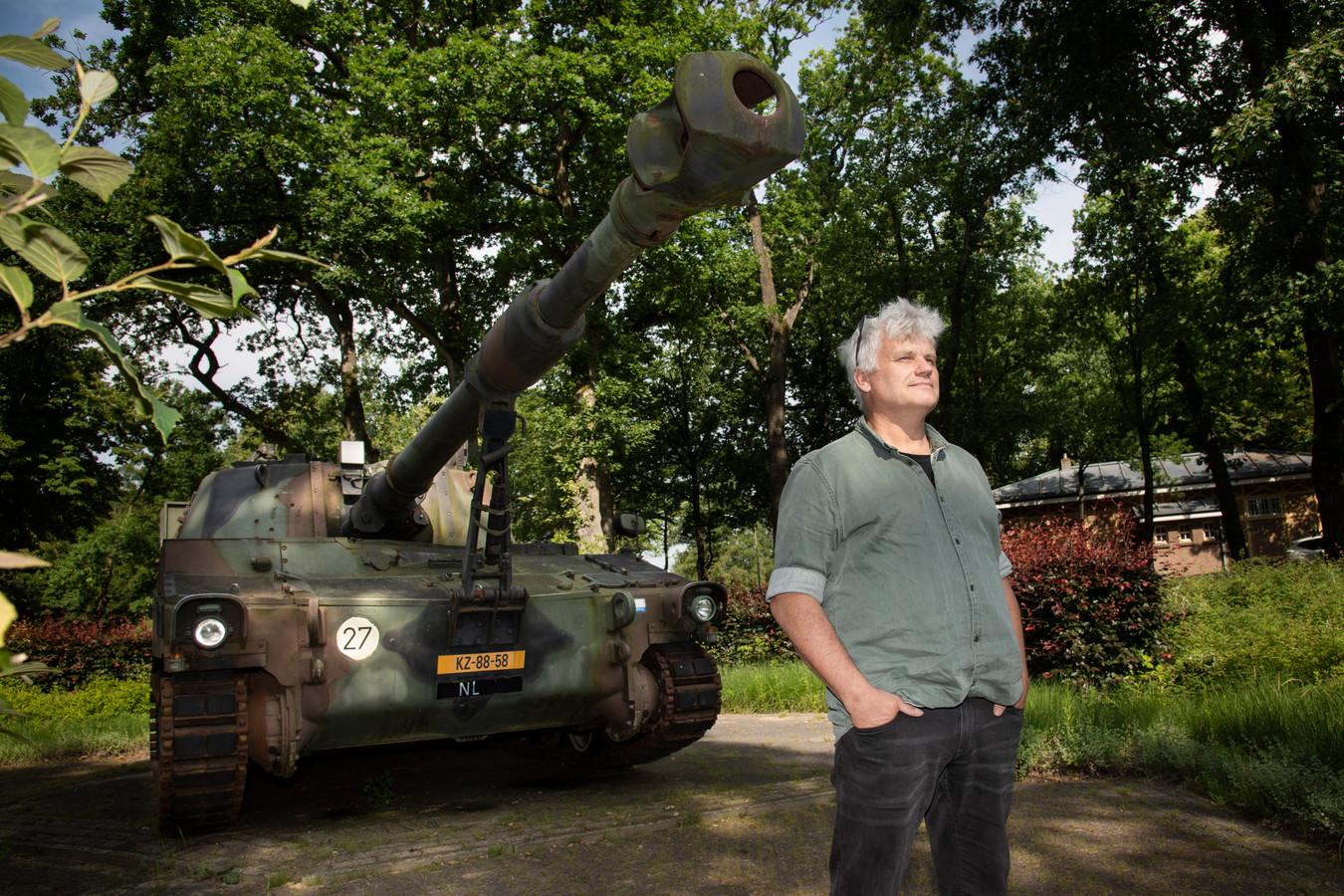 Edwin Vonk op de kazerne in 't Harde.