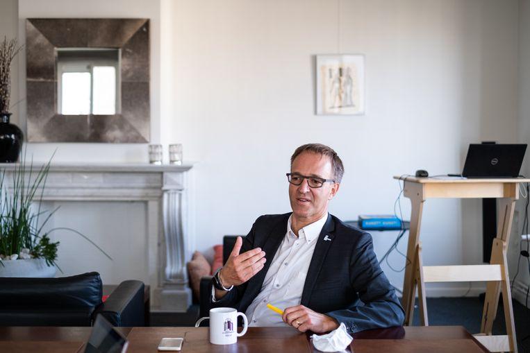 Rector Rik Van De Walle. Beeld Wouter Maeckelberghe