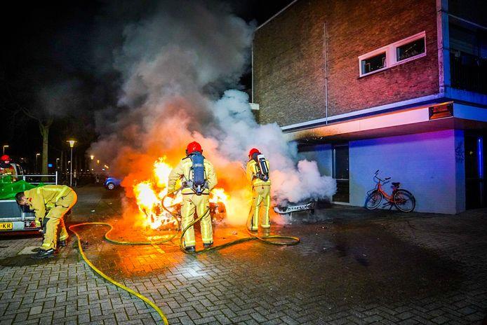 Flinke brand in de Johannes Buijslaan.