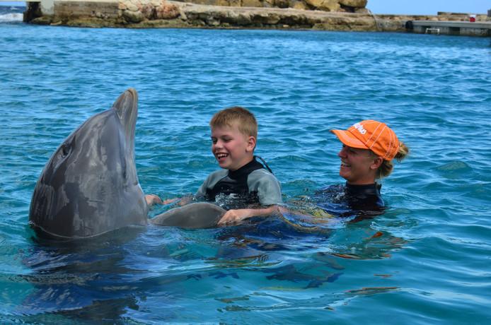 Al 106 kinderen konden via deze weg terecht bij het Curaçao Dolphin Therapy en Research Center (CDTC).