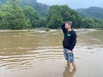 """Wetters Wriemelkamp met 20 kleuters ontruimd na overstroming Ourthe: """"We zijn alles kwijt maar iedereen is ongedeerd"""""""