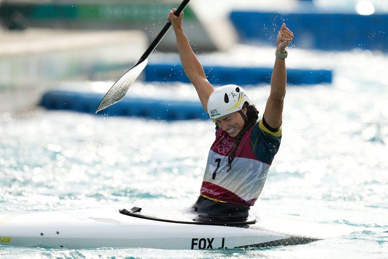 Jessica Fox wint wel goud met kano. Beeld AP