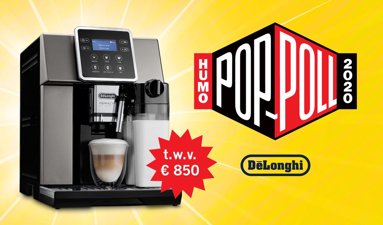DeLonghi espressomachine Humo's Pop poll Beeld Humo