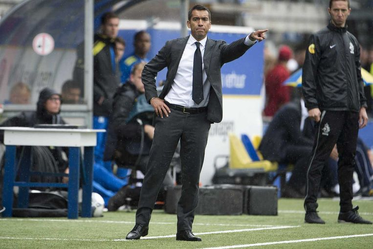 Coach Giovanni van Bronckhorst. Beeld anp
