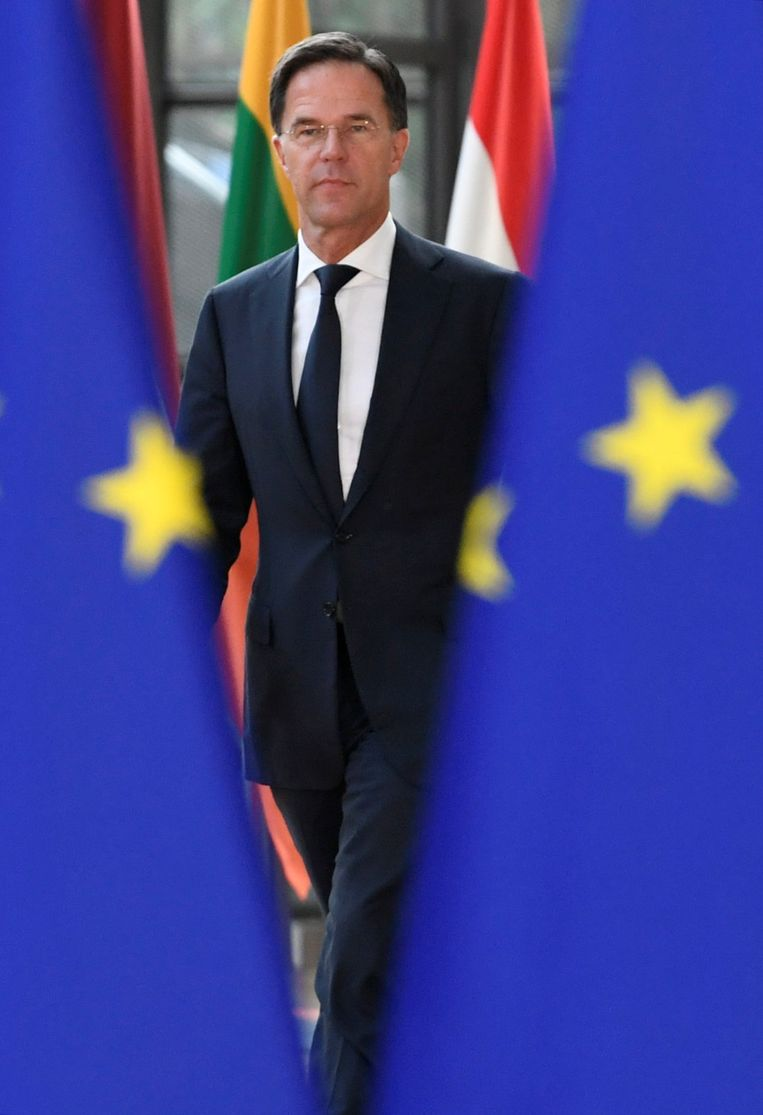 Mark Rutte arriveert dinsdag in Brussel om de Europese topfuncties te verdelen. Beeld REUTERS