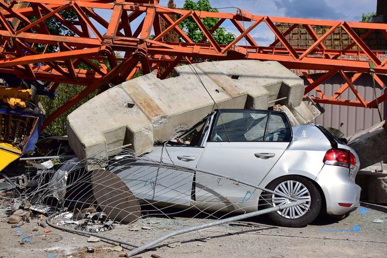 Spectaculair ongeval net over de grens in Komen-Waasten.