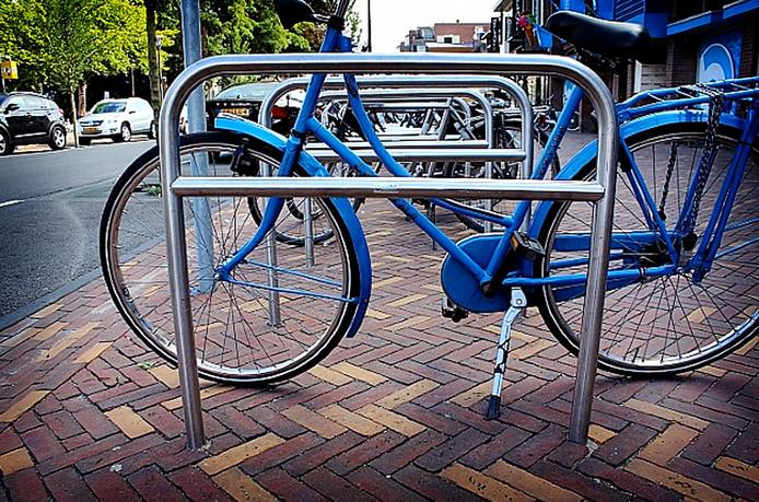 Een fietsnietje.